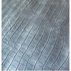Переплетный кожзам серый с тиснением под крокодила 33х70 см