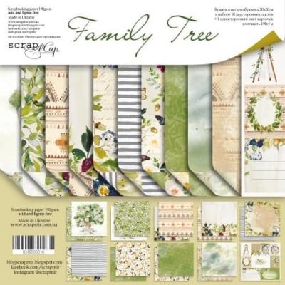 Набор двусторонней бумаги 30х30 Family Tree