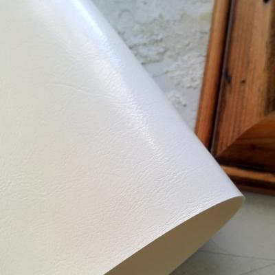 Переплетный кожзам белого цвета с тиснением шевро 35х50 см
