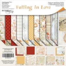 Набор двусторонней бумаги 30х30 Falling in Love