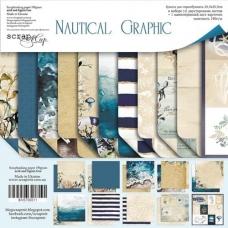 Набор двусторонней бумаги 20х20 Nautical Graphic