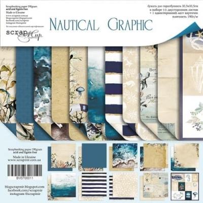 Набор двусторонней бумаги 30х30 Nautical Graphic