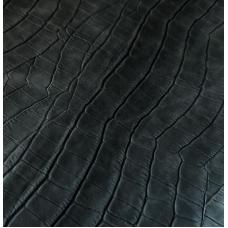 Переплетный кожзам черный с тиснением под крокодила 33х70 см