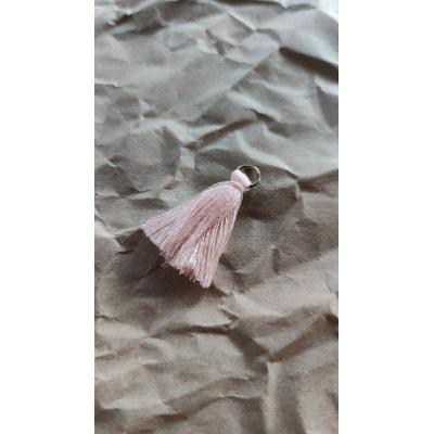 Кисточка хлопок 35 мм, розовый