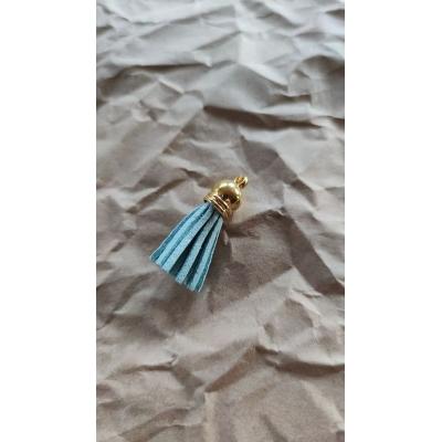 Кисточка замша 40мм, бирюзовый