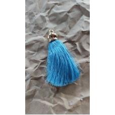 Кисточка шелковая 8,5 см, голубая