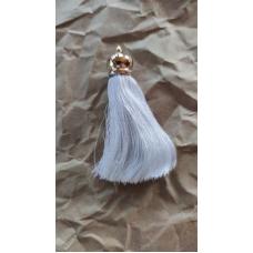Кисточка шелковая 8,5 см, белая