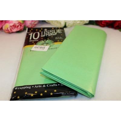 Бумага тишью 50*66см, упак. 10шт, светло-зелёный