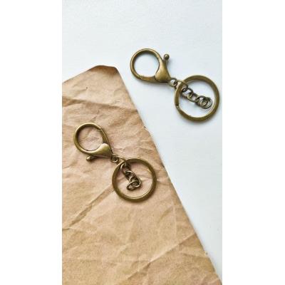 Карабин с кольцом и цепочкой, бронза