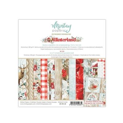 """Набор бумаги 15х15 """"Winterland"""" от Mintay Papers, половинка"""
