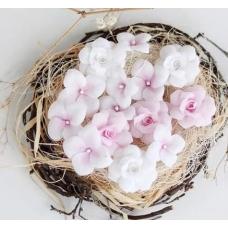 Набор цветов Pastel Flowers Гортензии и Розы, розовые