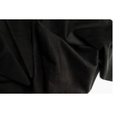 "Замша двухсторонняя черная ""Крыло дракона"", 25х70 см"