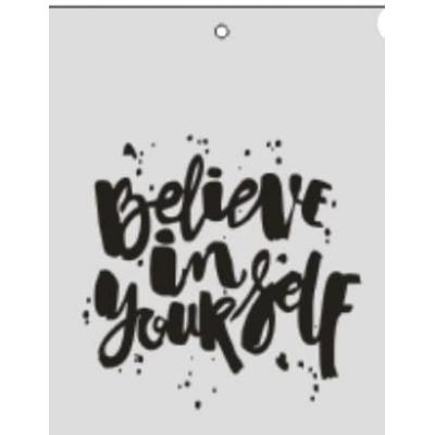 """Табличка """"Believe in yourself"""" серебро, 6х8 см"""