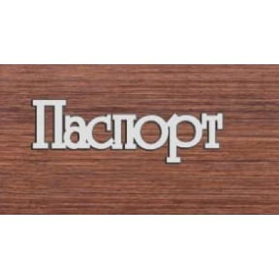 """Табличка """"Паспорт"""", 70х24мм"""
