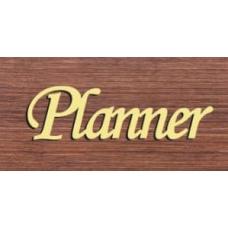 """Табличка """"Planner"""" золото, 82х25мм"""