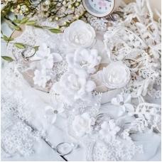 "Набор цветов Pastel Flowers ""DIAMOND"" белый"