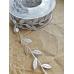 Лента с листиками, цвет серебряный, цена за ярд