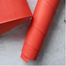 Переплетный кожзам матовый ало-красный без тиснения 35х50 см