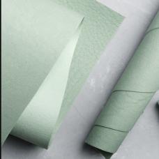 Переплетный кожзам авантюриновый зеленый с тиснением под мятую кожу 35х50 см