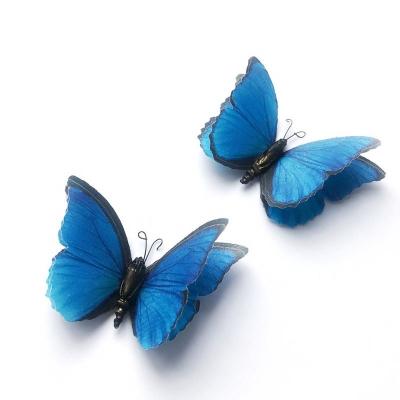 Бабочка из ткани темно-синяя. 1шт. 6см, Cristina Petrova