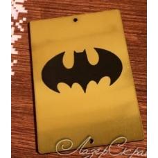 """Табличка """"Бетмен"""", золото, 6х8 см"""