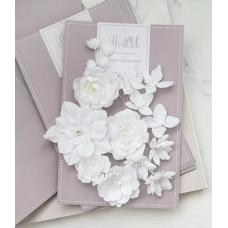 """Набор цветов Pastel Flowers """"Базовый микс"""" - белый"""