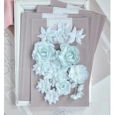 """Набор цветов Pastel Flowers """"Базовый микс"""" - мятный"""