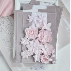 """Набор цветов Pastel Flowers """"Базовый микс"""" - розовый"""