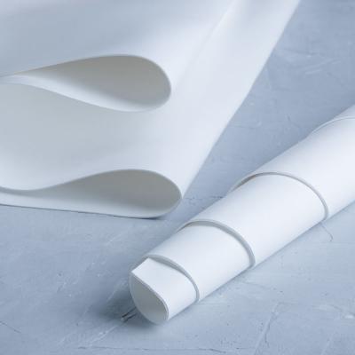 Переплетный кожзам матовый белый без тиснения 35х50 см