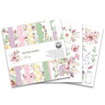 "Набор бумаги 15х15 ""Four Seasons - Spring"" от P13, половинка"