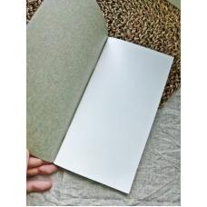 Блокнот формата мидори, цвет серый, страницы белые