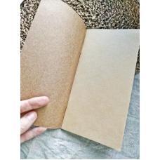 Блокнот формата мидори, цвет крафт, страницы крафт