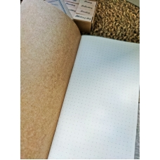 Блокнот формата мидори, цвет крафт, страницы с точками