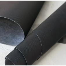 Переплетный кожзам черный с тиснением под джинсу 35х50 см