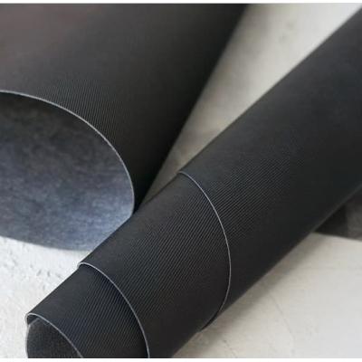 Переплетный кожзам черного цвета с тиснением под джинсу 35х50 см