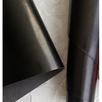Переплетный кожзам черного цвета с тиснением шевро 35х50 см