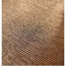 Кожзам на тканевой основе медный с тиснением лоза 33х70 см