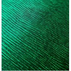 Кожзам на тканевой основе зеленый с тиснением лоза 33х70 см