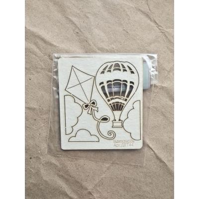 "Чипборд ""Воздушный шар"", 5,5х6см"