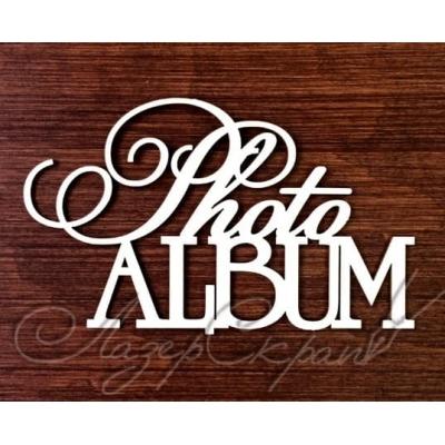 """Чипборд """"Photoalbum"""", 106x64мм"""