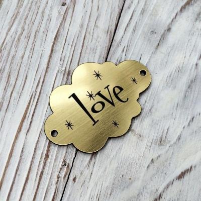 Табличка-облачко Love золото 3х5 см