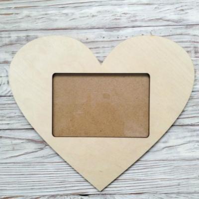 Рамка сердце большая, внешний размер: 19х28, фото: 10х15