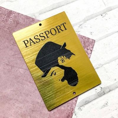 Табличка Паспорт Мужчина в шляпе, 5х7, золото