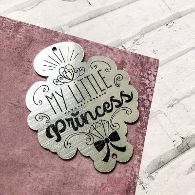 Табличка My little Princess, 7х5,5 см, серебро