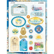 Набор украшений из чипборда Sea adventure Bee Shabby