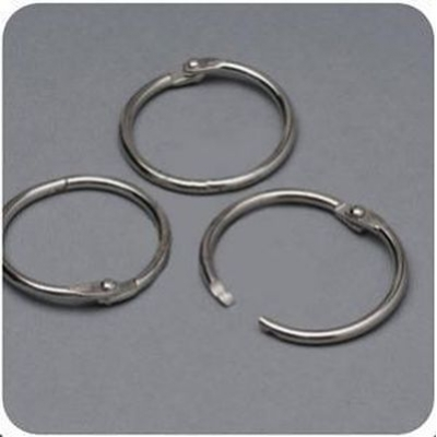 Кольца разъемные 32 мм никелированные «серебро», 2шт