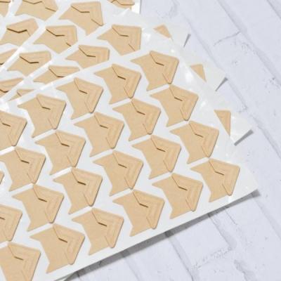 Уголки бумажные, 24 шт\лист, крафт