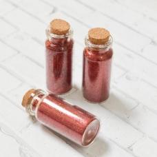 Бутылочка 5 см с глиттером, цвет красный