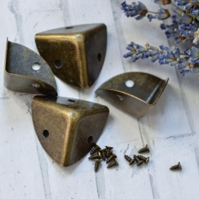 Ножки для коробочек и комодиков, цвет бронза, размер грани 2,3 см.,комплект 4 шт.