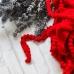 Помпошки 10 мм, цвет красный, 1 м